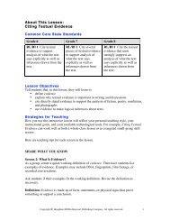 About This Lesson: Citing Textual Evidence