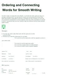 Ordering and Connecting Words for Smooth Writing