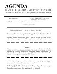 Download Agenda - Levittown Public Schools