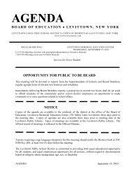 AGENDA - Levittown Public Schools