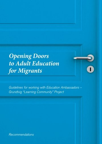 Opening Doors to Adult Education for Migrants - Learning Community