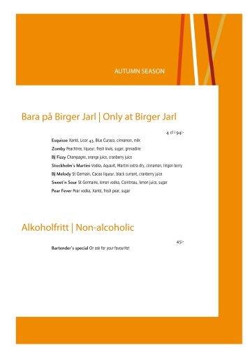 Drink list - Birger Jarl
