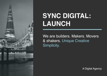 SYNC DIGITAL: LAUNCH