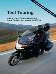 Test Touring BMW, Kawasaki, Honda, Yamaha - BMW Motorrad