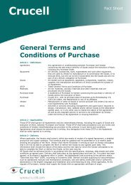 General Terms and Conditions of Purchase - Crucell