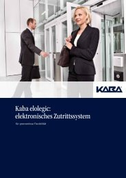 Kaba elolegic: elektronisches Zutrittssystem - Doppler, Basel
