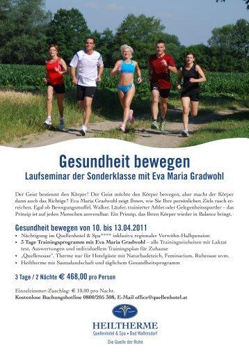 Gesundheit bewegen von 10. bis 13.04.2011 - Lauftreff Hafnerbach