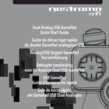 Dual Analog USB Gamepad Quick Start Guide Guide de démarrage ...