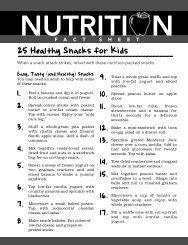 25 Healthy Snacks for Kids - UCI Wellness
