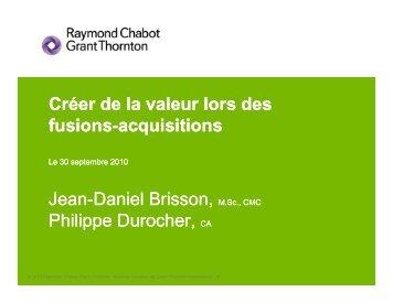 Créer de la valeur lors des fusions-acquisitions acquisitions q Jean ...