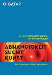 43. Internationales Seminar für P sychotherapie - ÖGATAP