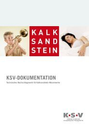Kalksandstein KSV-Info Broschüre - Creabeton Materiaux AG