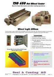 TSG 650 Hot Wheel Coater - UB Seal & Coating Machines AG