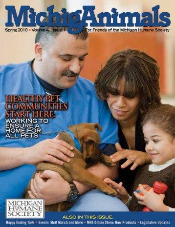 Spring 2010 - Michigan Humane Society