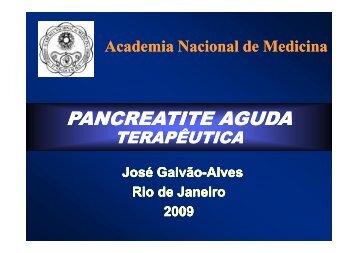Pancreatite Aguda Terapêutica - Academia Nacional de Medicina