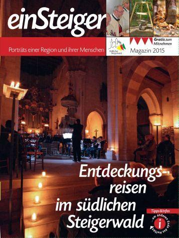 einSteiger 2015 Frankenmagazin südlicher Steigerwald