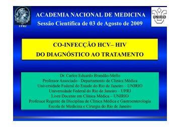 Coinfecção HIV, Virus C e Virus B da Hepatite - Academia Nacional ...