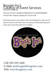 Boogie Inc's Catalog of Event Services -Schools