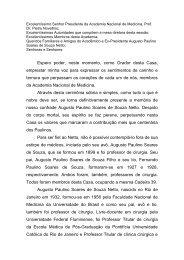 Discurso do Acad. Aníbal Gil Lopes - Academia Nacional de Medicina
