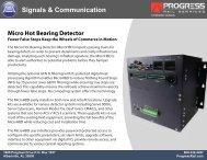 Micro Hot Bearing Detector Fewer False Stops Keep the Wheels of ...