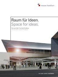 Raum für Ideen. Space for ideas. - Messe Frankfurt