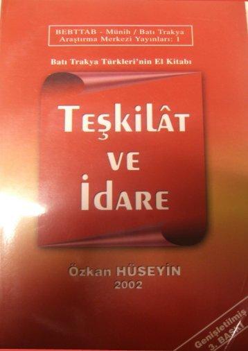Page 1 Bah Trakya Türkleri`nin El Kitabl TEgkìlÃT VE H iN 2002 ...
