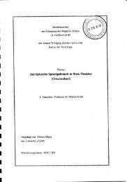 Abschlussarbeit zur Erlangung des Magistra Artium
