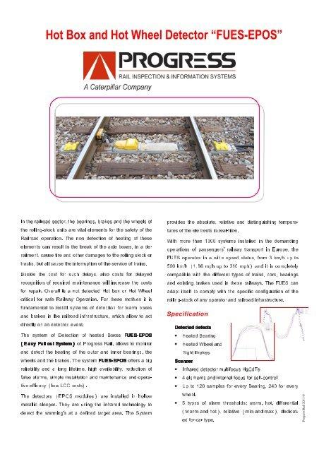 Product Flyer FUES-EPOS en - Progress Rail Services