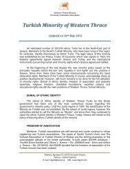 Turkish Minority of Western Thrace - pekem.org