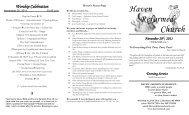 Worship Celebration -  Haven Reformed Church