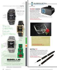 business gifts and incentives catalog section - Promo Marketing