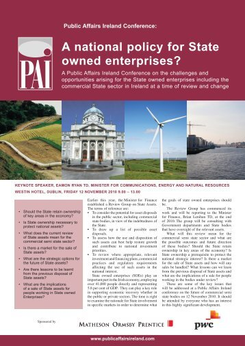 A national policy for State owned enterprises? - Public Affairs Ireland