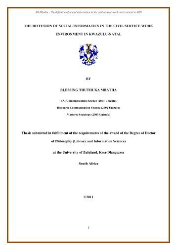 Full text thesis and dissertations