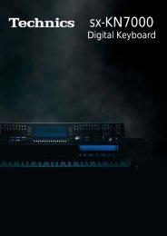 Das Technics KN7000 - CA - Software