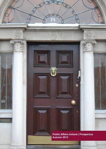 the 2012/13 Prospectus - Public Affairs Ireland