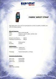FABRIC WRIST STRAP - Eurostat Group