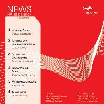 Newsletter Februar 2009 - Wirtschaft Harz