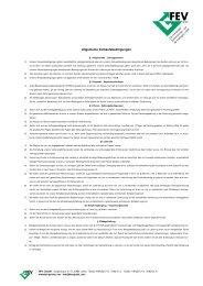 Allgemeine Verkaufsbedingungen - FEV