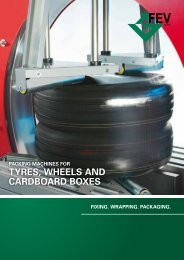 Packing Machines for Tyres, Wheels and Cardboard Boxes - FEV
