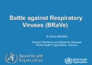 Presentation by Dr Sylvie Briand, WHO, to Heads of ... - Isirv.com