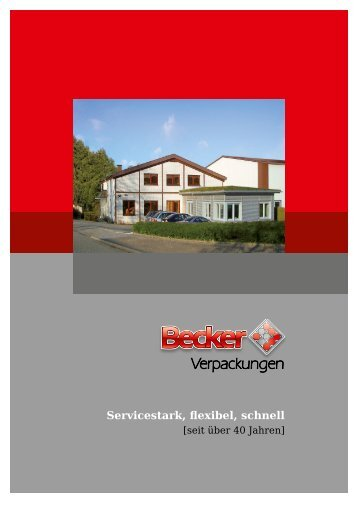 Unser Produktangebot als PDF - Becker-verpackungen.de