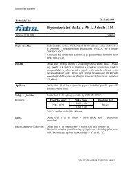 Hydroizolační deska z PE-LD druh 1116 - Fatra