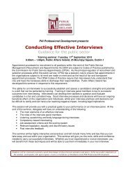 Effective Interviewings Skills for Interviewers - Public Affairs Ireland