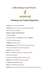 2.Browning Cup Hessen Einladung zum Tandem ... - MatchAngler