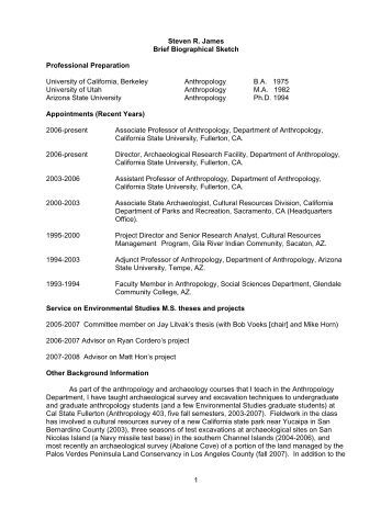Biographical sketch phd thesis