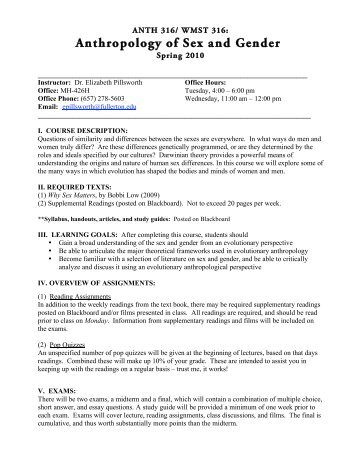 Syllabus Template - Csuf Anthropology