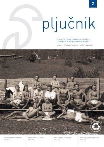 številka 2. Letnik 2011 (.pdf) - Bolnišnica Golnik