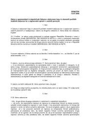 OSNUTEK 13.07.2006 Zakon o spremembah in dopolnitvah Zakona ...