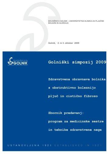 Zbornik predavanj - Bolnišnica Golnik