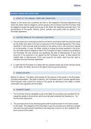 GENERAL TERMS AND CONDITIONS A. SCOPE OF THE ... - Fatra